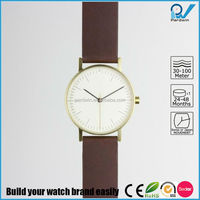 2015 newest men wrist watch japan movent stainless steel case customized brand fashion watch