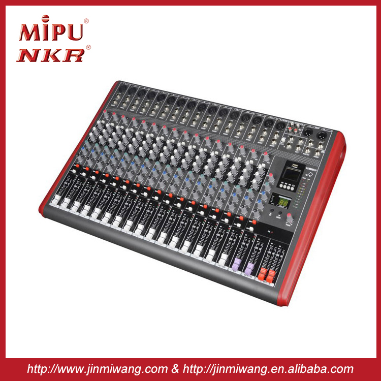High Quality Professional Audio Mixer N-16USB Professional sound power mixer