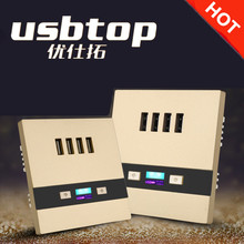 USBTOP BRAND New Design 4USB Wall Socket 10A with LED Light and Safety <strong>Switch</strong>