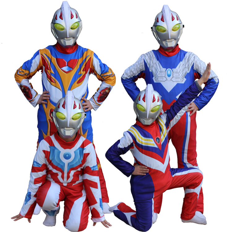 2017 new digital priting movie mascot ultraman party costume