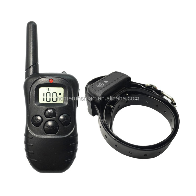Pet Dog Training Collar Waterproof Rechargeable LCD Electronic Shock Remote Anti Bark Electric Collar Optional