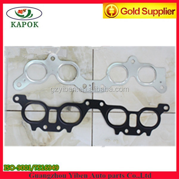 Metal material exhaust intake mainfold gasket for TOYOTA engine 3SFE