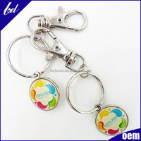 Exquisite gift key chain for handbags metal crafts fold key chain