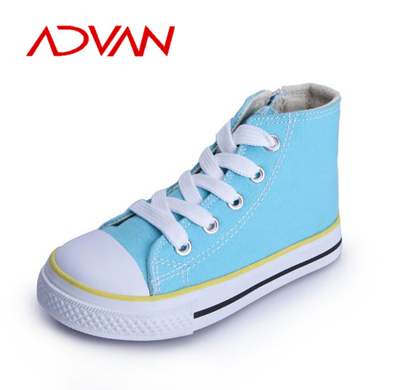 Whole Size 237 Unisex Kids Boys and Girls Lace-up High-cut Vulcanized Canvas Shoes Kids Wholesale