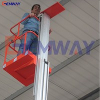 8m portable manual small manlift hydraulic power for sale