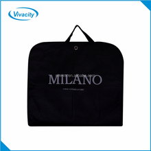 High quality pp non woven clothes garment bag wholesale, folding custom men garment suit cover bag