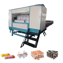 Disposable Full Auto Plastic Egg Tray Mould Pulp Forming Machine with Forming Cutting Stacking