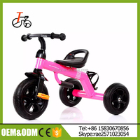 3 wheels children car kids tricycle bike/2017 New design Plastic Pushing Baby Tricycle for kids