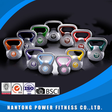 Professional trainning power plastic cement vinyl color kettlebell