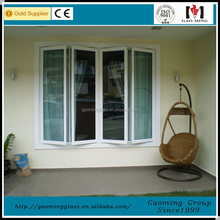 chinese supplier white aluminum frame triple glass door exterior metal insulated doors