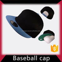 Microsanded cotton twill embroidered black mens baseball hat