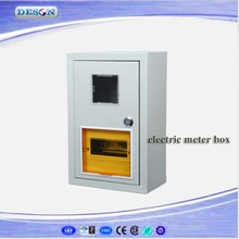 Electric Meter Distribution Box, KWh Meter Box, Waterproof Metal Metering Enclosure for 1 House hold