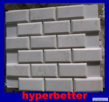Good quality Italy carrara white marble mosaic