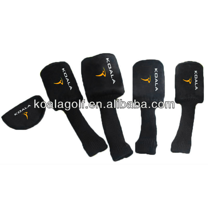 Unique golf head covers with fashion black color