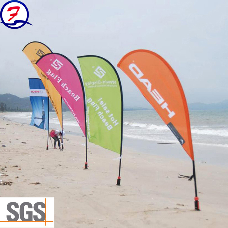 Feather Flag Advertising Flying Beach Flag Free Standing Polyester Flag Banner for sale