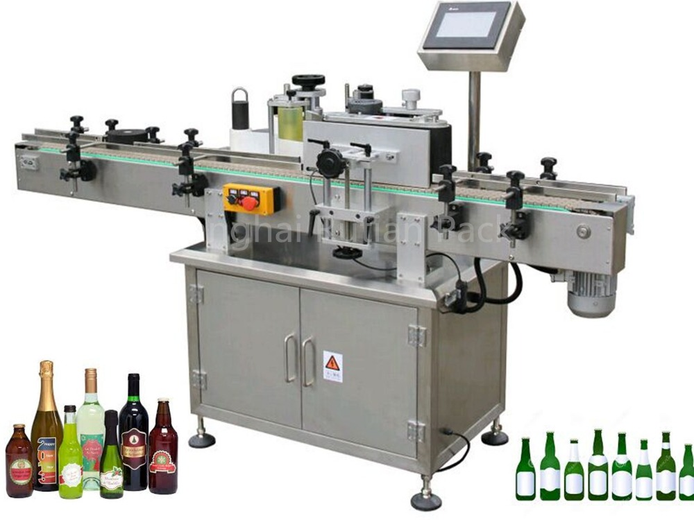 self adhesive sticker automatic round bottle labeling machine with turntable