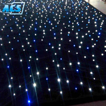 Wholesale price led single color start cloth/led star light cloth drop curtain/ led twinkling stars led backdrop in stage lights