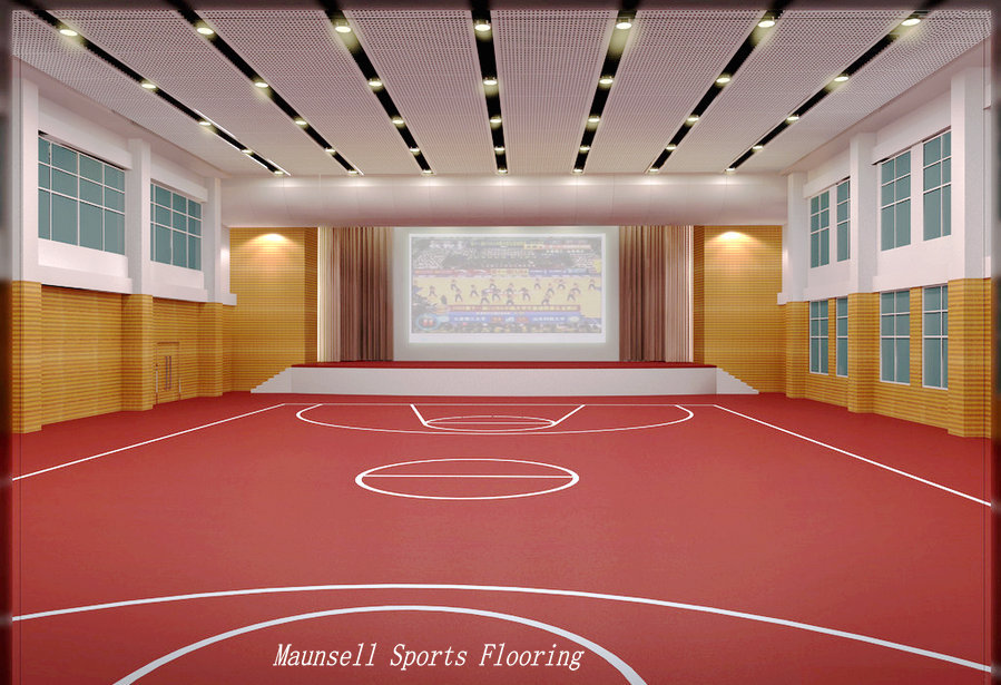 Pvc material plastic basketball floor carpets indoor for Indoor basketball court flooring cost