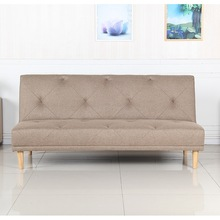 Living room wooden sofa foot cloth folding sofa bed