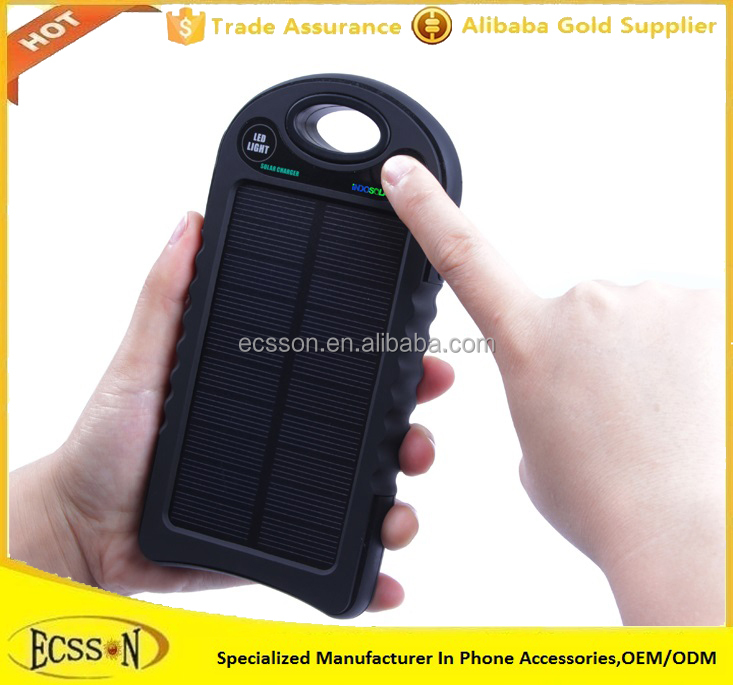 2017 New Arrival 10000mah waterproof solar power bank for mobile and tablet pc