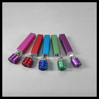 2016 new slim portable travel aluminum led light gift 2200mah power bank