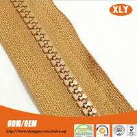 Decorative garment accessory plastic zipper for Home Textile/tents/bags
