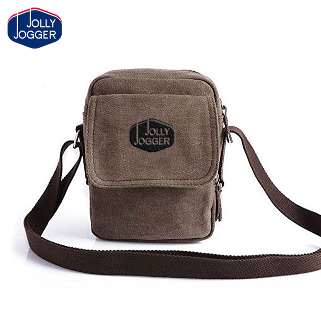 Men Small Vintage Canvas Shoulder Fanny Bag Messenger