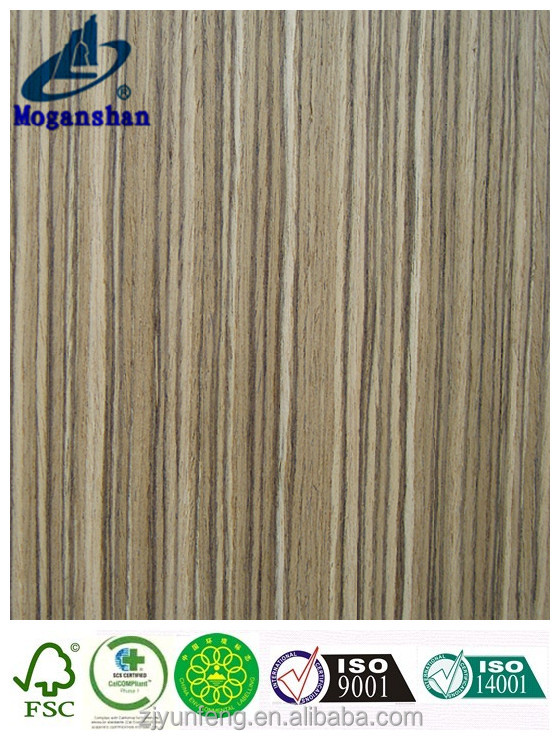 ZEBRA engineered/reconstituted/composite/reconstructed wood veneer with FSC for furniture cabinets doors