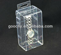 GC01-SH8512 clear plastic watch display box High quality single watch storage display box Big watch suitable counter display box
