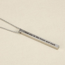 Etsy Top Selling Simple Fashion Tiny FineI love You Blank Bar Necklace