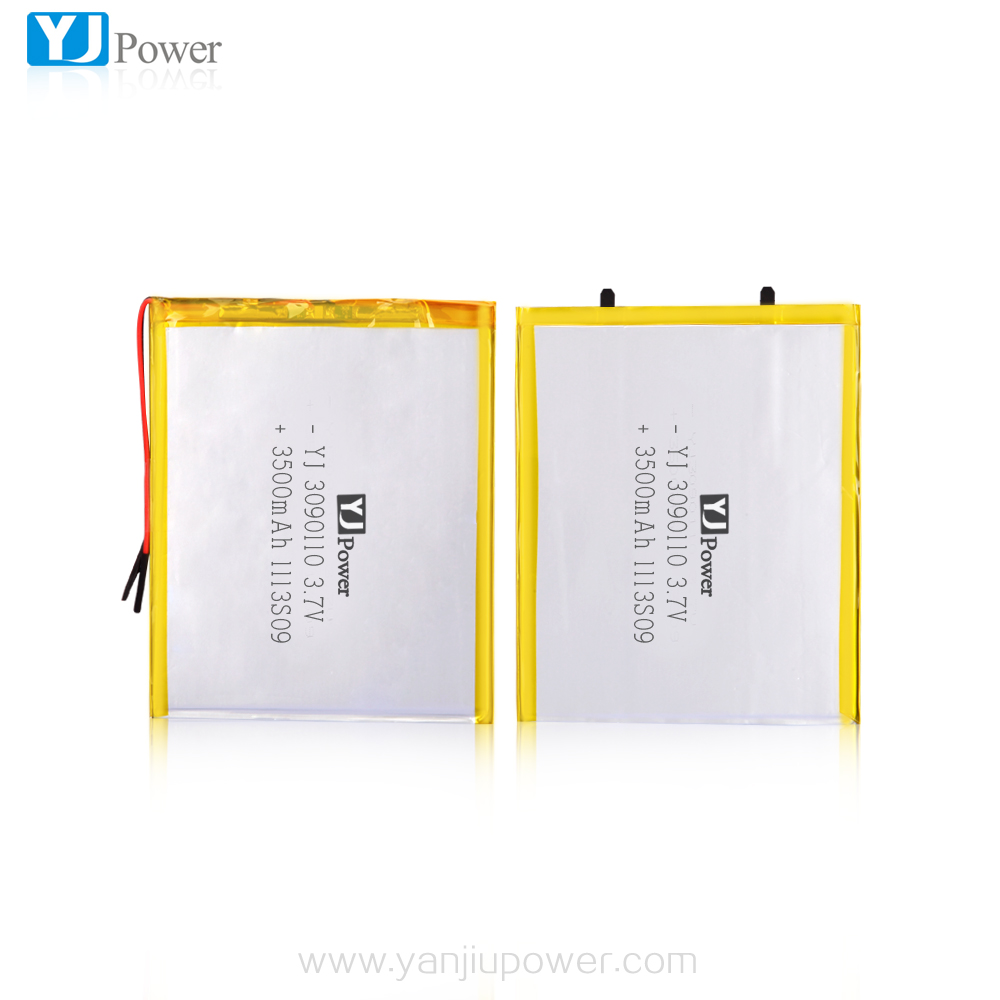 Trade Assurance Manufacturer 3500mAh 3.7V thin li-polymer battery with high capacity