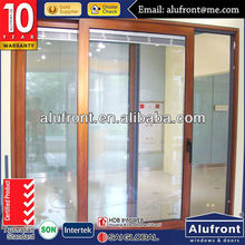powder coating aluminum lift and sliding door with blinds inside glass