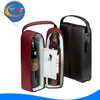 2015 new custom folding leather red wine carrier box wine storage case