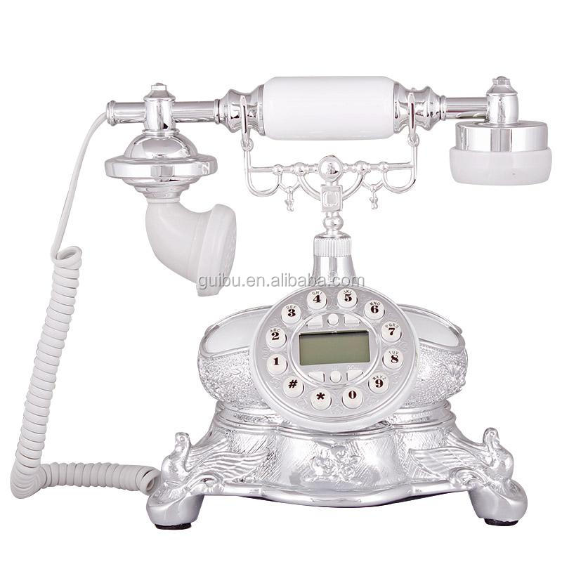 hot sale antique style shellfish marble telephones for home decor