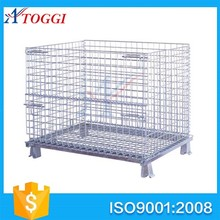 industrial steel stackable wire mesh storage cage container