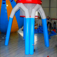 0.99 mm strong PVC material interactive inflatable Basketball games, inflatable monster basketball