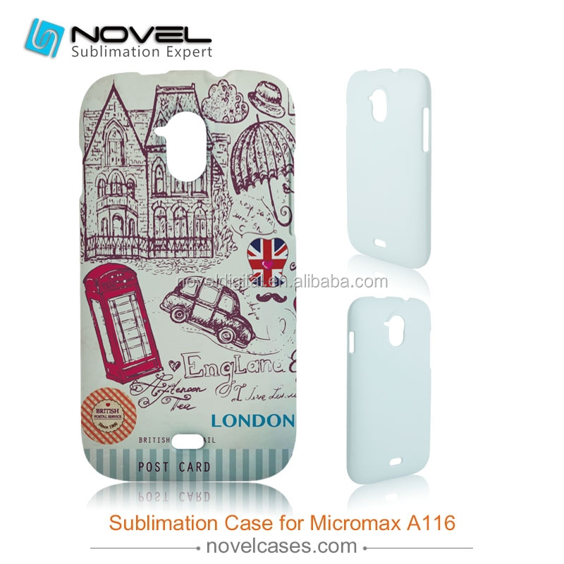 For Micromax A116 DIY 3D Sublimation phone case, customized full-printig phone cover