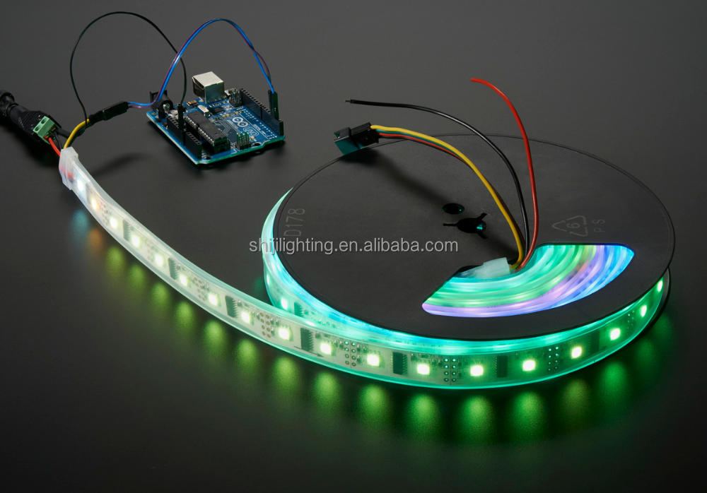 Hot sale programmable dc5v digital rgb 30LEDs/m ws2812b led strip