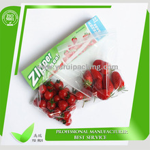 LDPE family use zip lock bag for food package