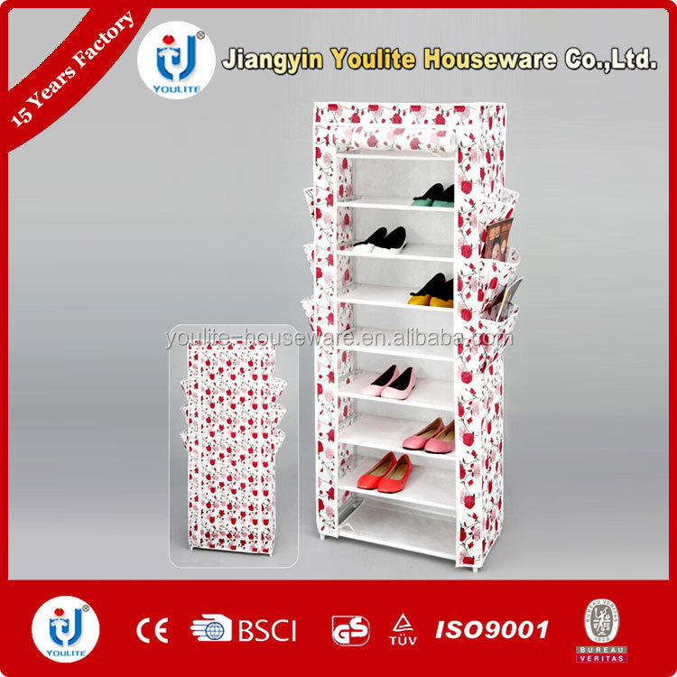 design fabric shoe storage cabinet diy shoe rack