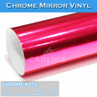 CARLIKE Factory Self Adhesive Film For Car Pink Chrome Vinyl