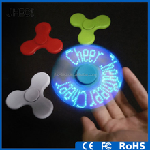 Custom light flashing word fingertip gyro 608 bearing plastic led glow hand spinner
