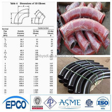 asme b 16.9 seamless bw carbon steel pipe elbow price !!!Hot
