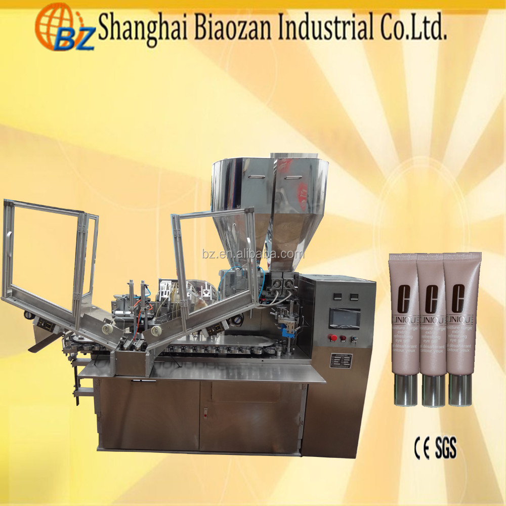 High quality automatic cosmetic plastic tube end tail filling sealing machine