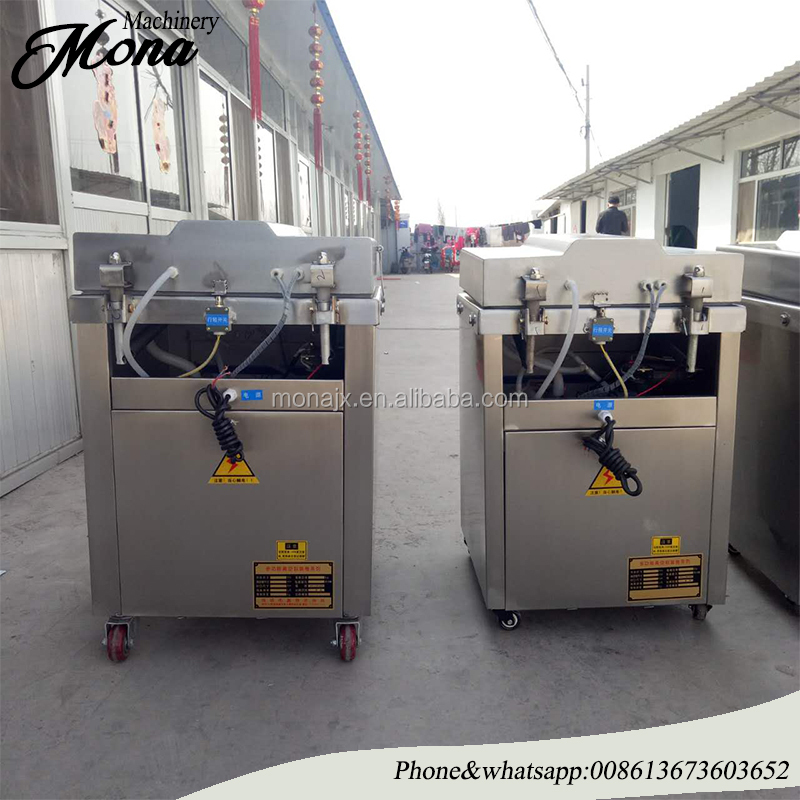 double chamers nitrogen dry fish vacuum packing machine