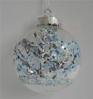 Creative glass ball with falling snow christmas tree as christmas home decor catalogs made in china alibaba
