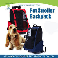Lovoyager hot sale soft pet stroller backpack with wheels