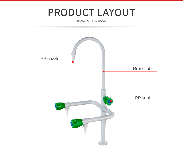 3305 Deck Mounted 3 Way Lab Sink Water Tap Faucet