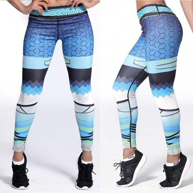 Custom elastic sport wear camouflage pants tights woman leggings