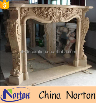 Indoor Used Artificial Marble Cheap Fireplace Mantel Ntmf